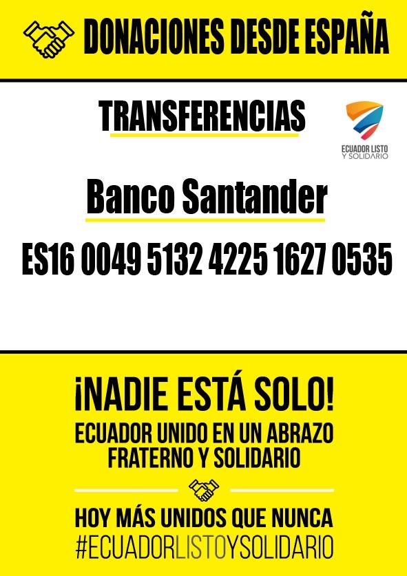 9 horas de m sica y arte en solidaridad con ecuador casa for Oficina 0049 banco santander